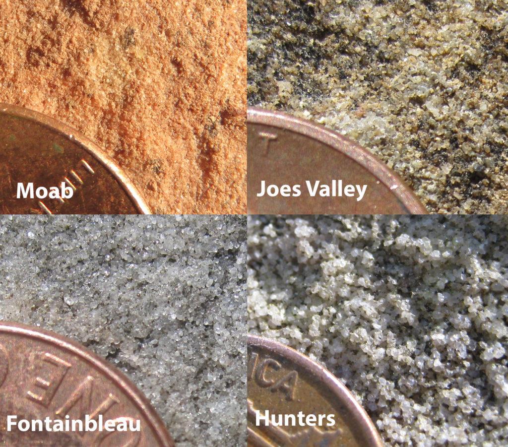 Four sandstones